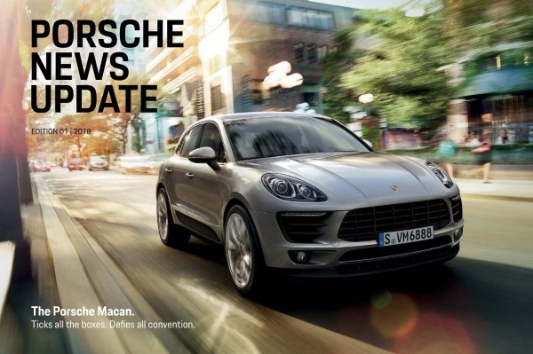 Porsche news update - Edition 1 2018